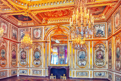 FONTAINEBLEAU, FRANCE - JULY 09, 2016 : Fontainebleau Palace int Stock Photos