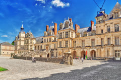 FONTAINEBLEAU, FRANCE - JULY 09, 2016 : Suburban Residence of th Stock Images