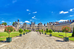 FONTAINEBLEAU, FRANCE - JULY 09, 2016 : Suburban Residence of th Royalty Free Stock Images