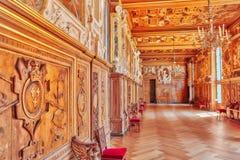 FONTAINEBLEAU FRANCJA, LIPIEC, - 09, 2016: Fontainebleau pałac int Obrazy Royalty Free