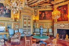 FONTAINEBLEAU FRANCJA, LIPIEC, - 09, 2016: Fontainebleau pałac int Zdjęcia Royalty Free