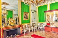 FONTAINEBLEAU, FRANKRIJK - JULI 09, 2016: Het Paleis int. van Fontainebleau Stock Foto's