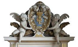 Fontainebleau Frankrike - 15 Augusti 2015: Detaljer, staty och möblemang Arkivfoton