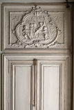 Fontainebleau Frankrike - 15 Augusti 2015: Detaljer, staty och möblemang Royaltyfri Bild