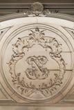 Fontainebleau Frankrike - 15 Augusti 2015: Detaljer, staty och möblemang Royaltyfri Foto