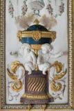 Fontainebleau Frankrike - 15 Augusti 2015: Detaljer, staty och möblemang Arkivbild
