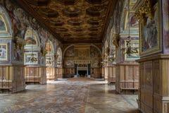 Fontainebleau Frankrike - 16 Augusti 2015: Inre sikt Royaltyfri Foto