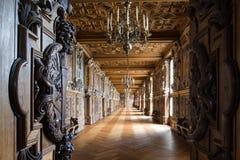 Fontainebleau Frankrike - 16 Augusti 2015: Inre sikt Arkivfoton