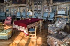 Fontainebleau Frankrike - 16 Augusti 2015: Inre sikt Royaltyfria Bilder