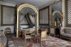 Fontainebleau Frankrike - 16 Augusti 2015: Inre sikt Arkivbilder