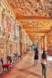 FONTAINEBLEAU FRANKRIKE - JULI 09, 2016: Fontainebleau slott int Royaltyfri Bild
