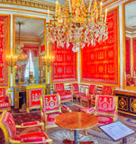 FONTAINEBLEAU FRANKRIKE - JULI 09, 2016: Fontainebleau slott int Arkivbilder