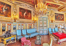 FONTAINEBLEAU FRANKRIKE - JULI 09, 2016: Fontainebleau slott int Arkivfoton