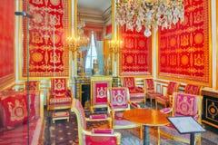 FONTAINEBLEAU FRANKRIKE - JULI 09, 2016: Fontainebleau slott int Royaltyfri Foto