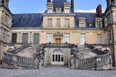 Fontainebleau - The Horseshoe-shaped staircase Royalty Free Stock Photo