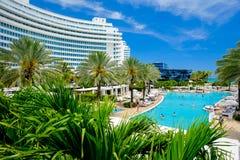 Fontainebleau-Hotel Lizenzfreie Stockfotos
