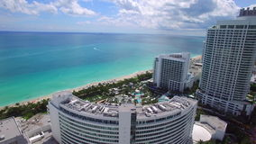 Fontainebleau Hotel Miami Beach stock video footage