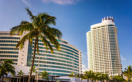 The Fontainebleau Hotel, in Miami Beach, Florida. Royalty Free Stock Photo