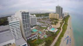 Fontainebleau Hotel Miami Beach 4k stock video