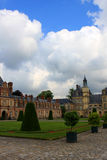 Fontainebleau palace. With garden outside of Paris, France Royalty Free Stock Photo