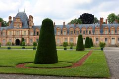 Fontainebleau palace Royalty Free Stock Image