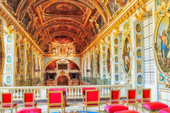 Fontainebleau Palace interiors. The Room above the Chapel. Chat Stock Photos