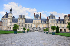 Fontainebleau Palace - The main courtyard Stock Images