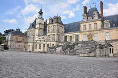 Fontainebleau Palace - The main courtyard Royalty Free Stock Photography
