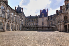 Fontainebleau Palace - The Oval Courtyard Stock Image