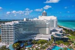 Fontainebleau semesterort, Miami, Florida Fotografering för Bildbyråer