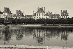 Fontainebleau slott Royaltyfri Fotografi