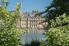 Fontainebleau slott Chateau de Fontainebleau nära Paris, Frankrike fotografering för bildbyråer