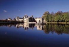 fontainebleu法国宫殿巴黎 库存图片