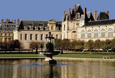 fontainebleu法国宫殿巴黎 库存照片