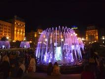 Fontaines à Kiev photos libres de droits