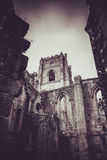 Fontaines Abbey Ruins, Ripon R-U image stock