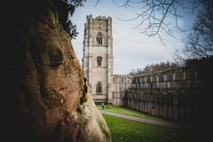 Fontaines Abbey Ruins, Ripon R-U photos stock