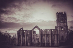 Fontaines Abbey Ruins, Ripon R-U images stock