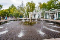 Fontaines antiques dans Peterhof Photo libre de droits