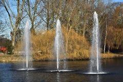 Fontaines artésiennes décoratives photographie stock