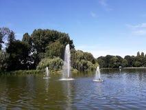Fontaines artésiennes décoratives photo libre de droits