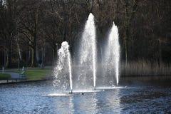 Fontaines artésiennes décoratives photographie stock libre de droits
