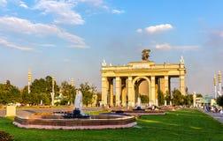 Fontaines au centre d'exposition de la Tout-Russie, Moscou Photos stock