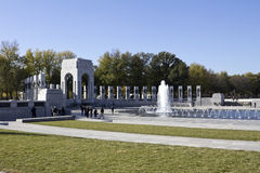 Fontaines au mémorial de la deuxième guerre mondiale Photographie stock