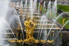 Fontaines d'or image libre de droits