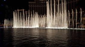 Fontaines d'eau de Bellagio photo stock