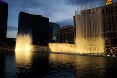 Fontaines d'hôtel de Bellagio photographie stock libre de droits