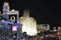 Fontaines d'hôtel et de casino de Bellagio à Las Vegas Photographie stock