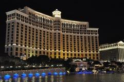 Fontaines d'hôtel et de casino de Bellagio à Las Vegas Images libres de droits