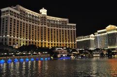 Fontaines d'hôtel et de casino de Bellagio à Las Vegas Image stock